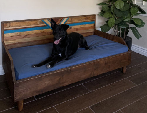 Spoil you pooch with a custom bed by Local woodworking artist Monica Robles