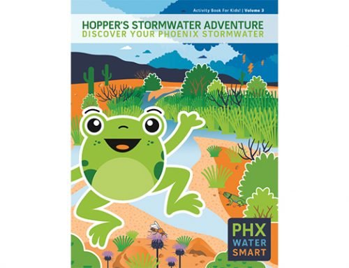 Phoenix Water Debuts New Activity Book with Stormwater Hopper