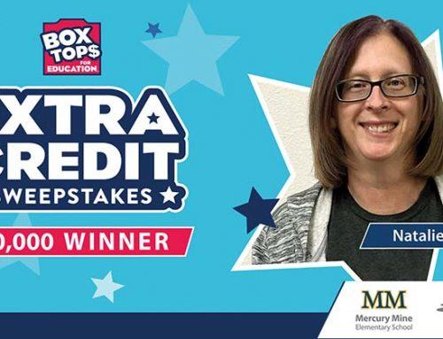 Mercury Mine Elementary Wins $20,000 Box Top Extra Credit Sweepstakes