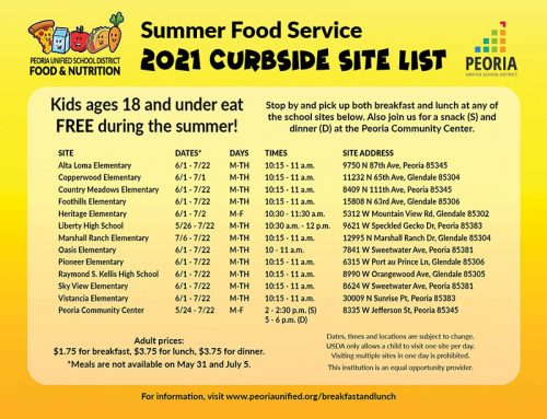 Free Curbside Meals Available to Local Children All Summer