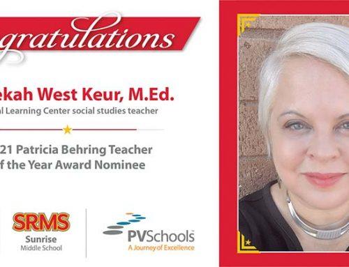 Sunrise Middle School Social Studies Teacher Nominated for National Award